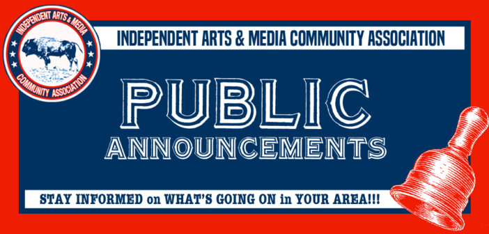PUBLIC ANNOUNCEMENTS